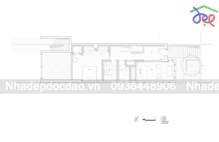 Thiết kế nhà lô phố 2 mặt tiền tràn ngập ánh sáng