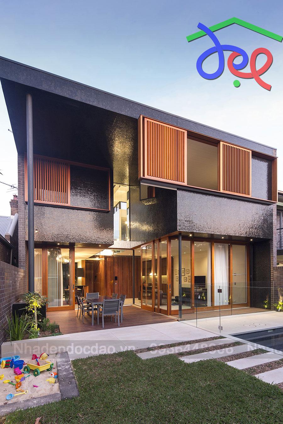 Thiết kế nhà phố 2 mặt tiền phong cách hiện đại ở Sydney, Úc