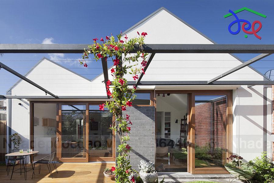 """Thiết kế nhà phố theo kiểu """"nhà trong nhà"""""""