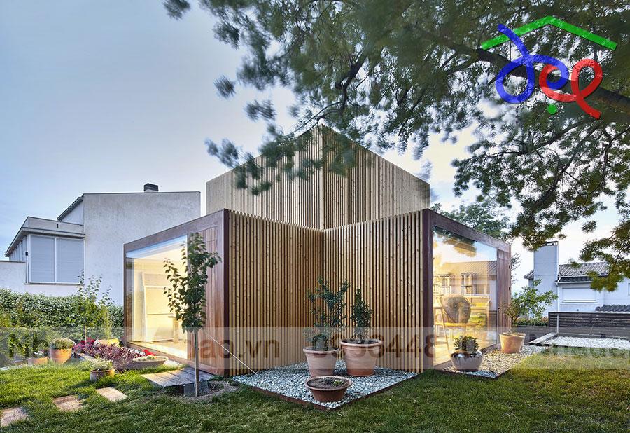 Thiết kế nhà vườn kết hợp phòng làm việc tại nhà