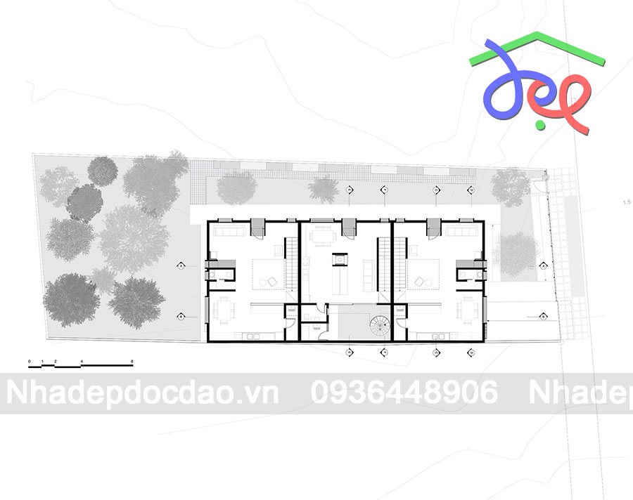 Thiết kế chung cư mini nhiều màu sắc ở Brazil