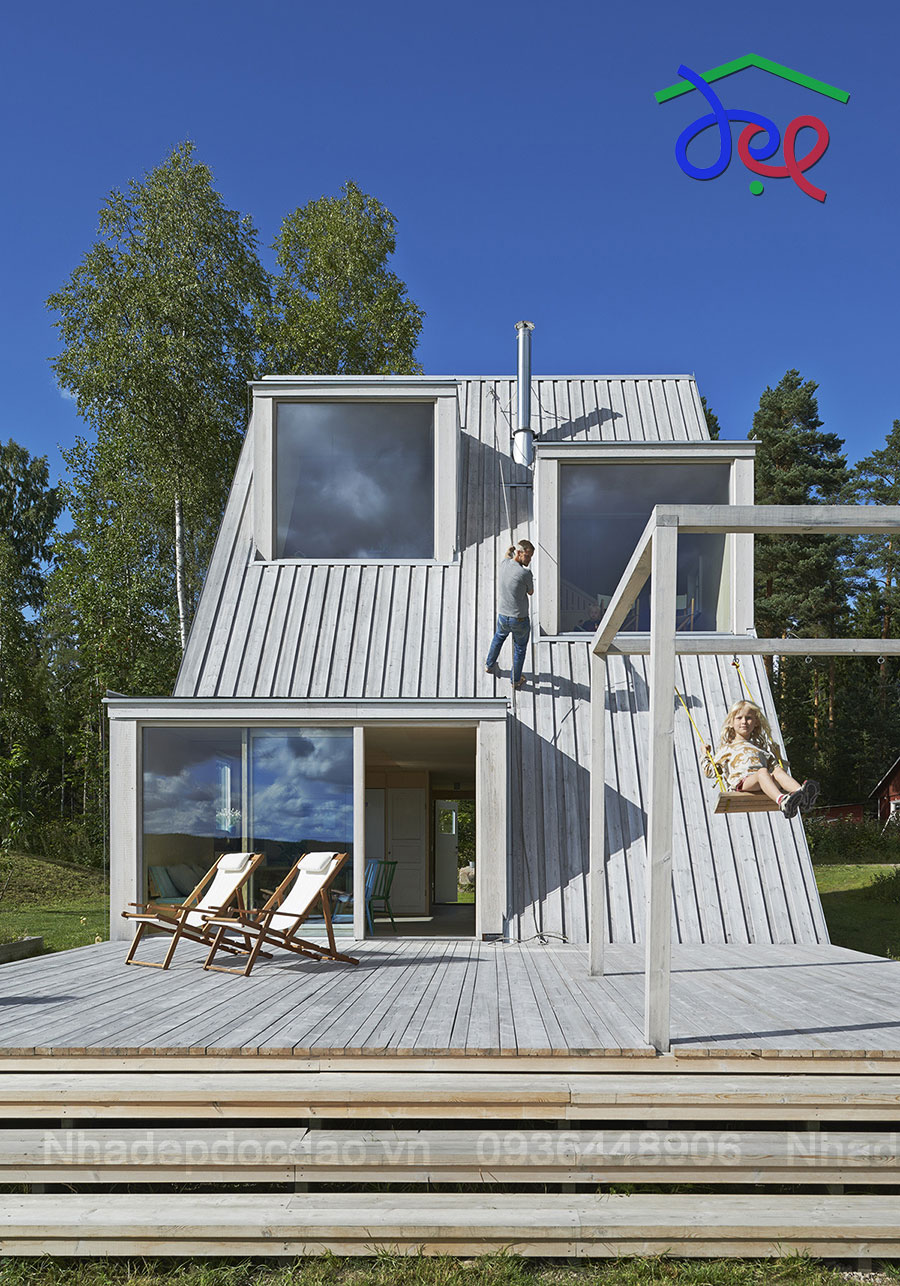 Thiết kế nhà nghỉ mùa hè ở Dalarna