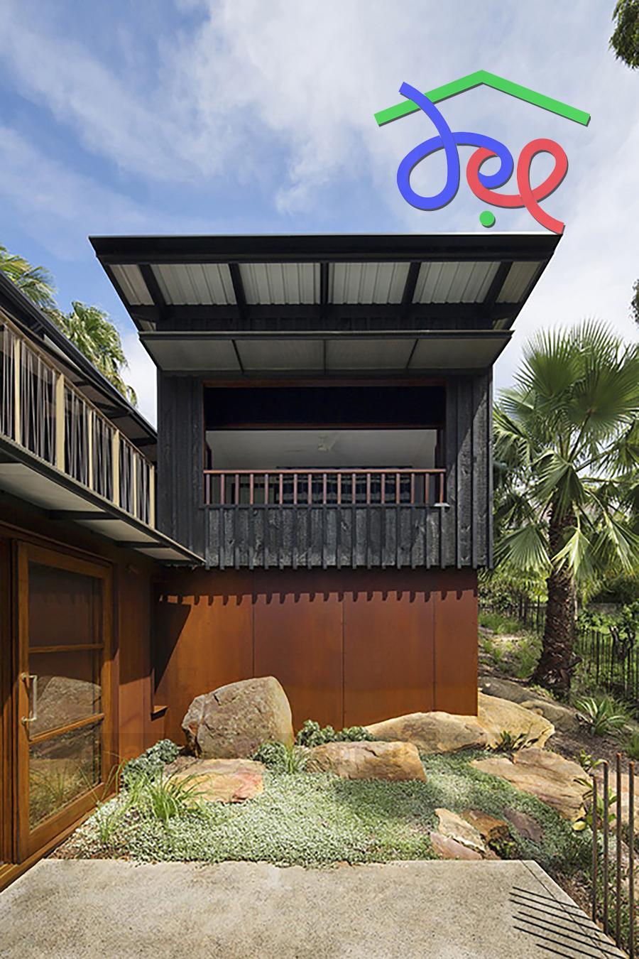 Thiết kế nhà nghỉ 2 tầng bên bờ biển ở Australia
