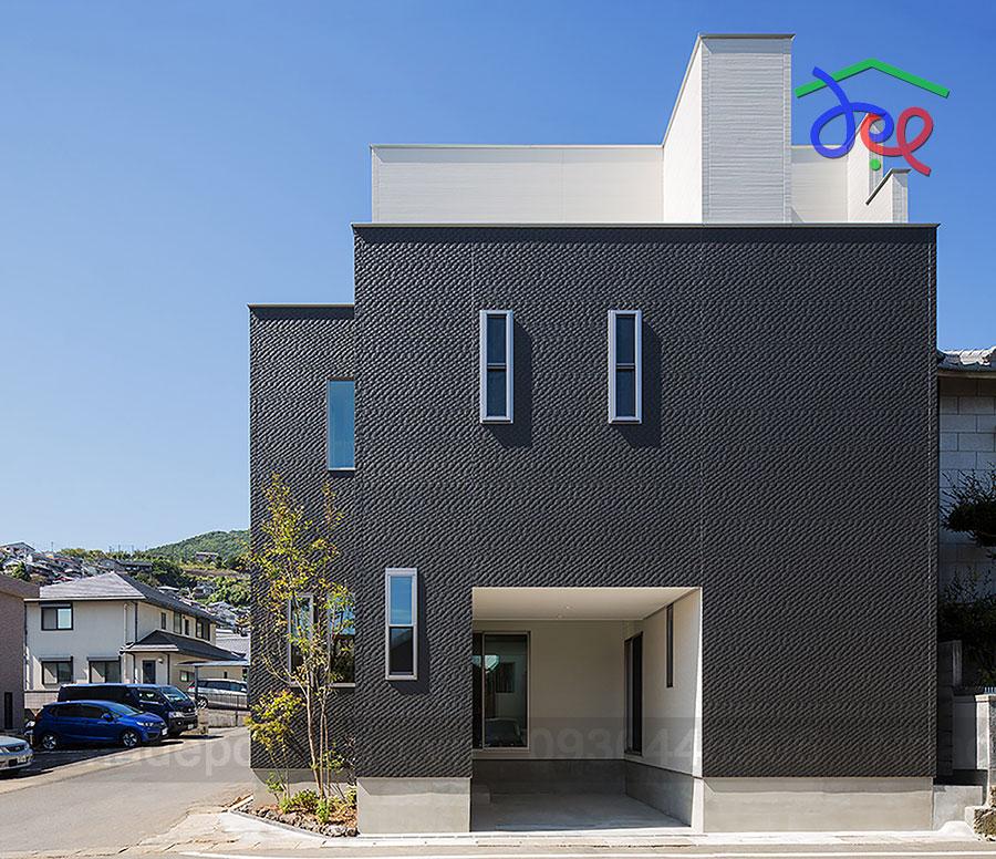 Thiết kế nhà phố 3 tầng 2 mặt tiền diện tích 50m2