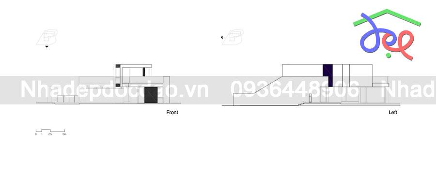 Thiết kế nhà phố cho 3 trên diện tích đất bị méo