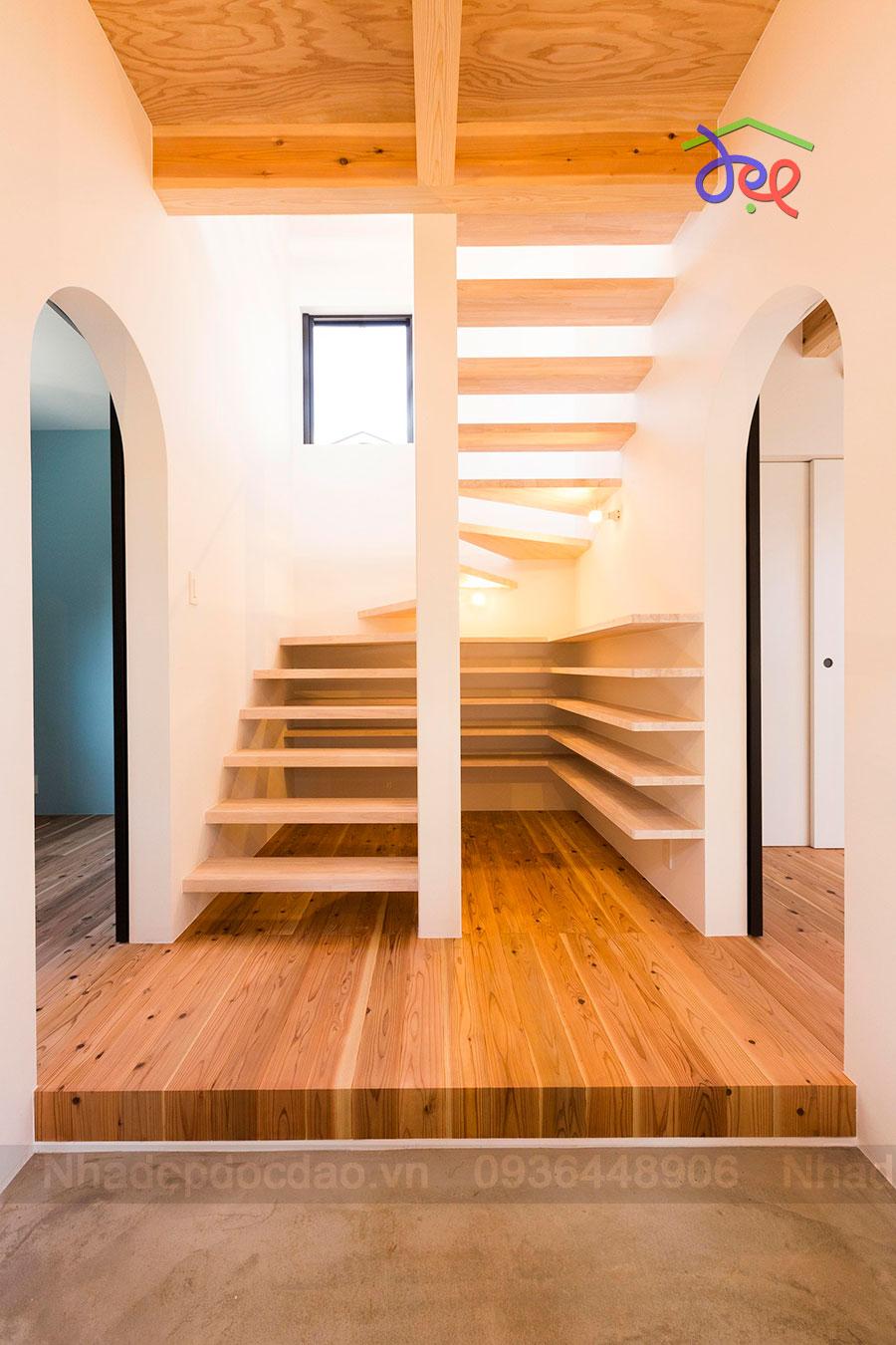 Thiết kế nhà phố 3 tầng bằng gỗ diện tích 86m2