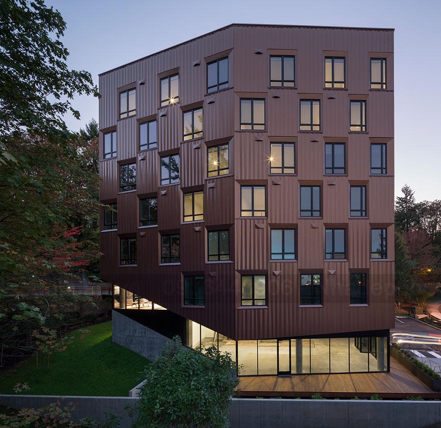 """Thiết kế chung cư mini 7 tầng kiểu """"Nhà cây"""""""