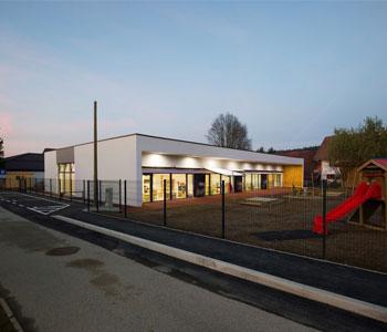 Thiết kế trường học liên cấp – Nơi chia sẻ thời gian ở Podgorje