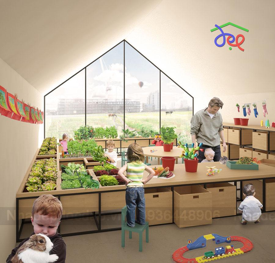 Thiết kế trường mầm non kết nối giáo dục với thiên nhiên