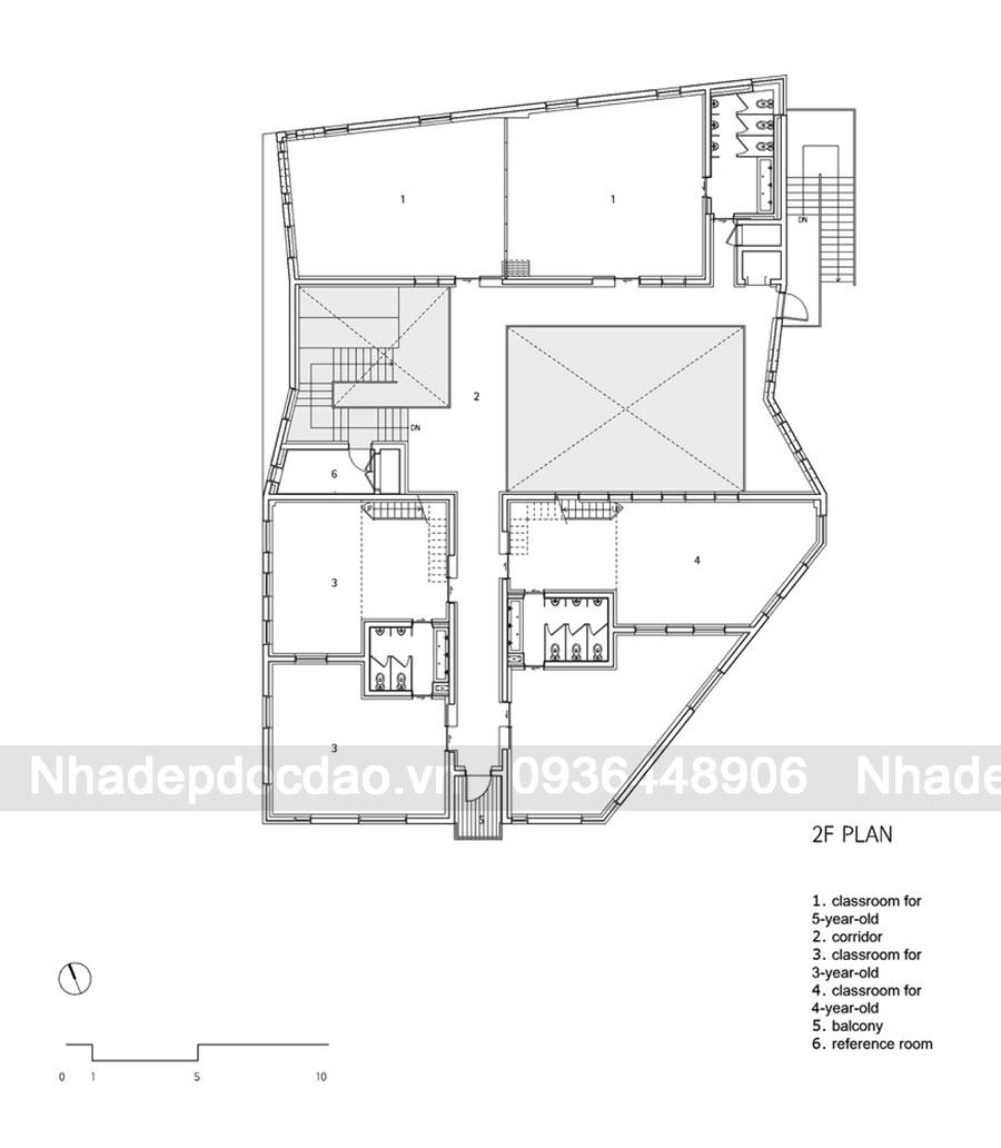 Thiết kế trường mầm non 2 tầng ở Hangdong