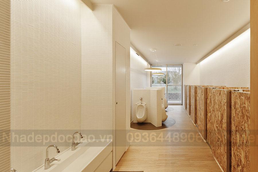 Thiết kế trường mầm non 2 tầng thân thiện với môi trường