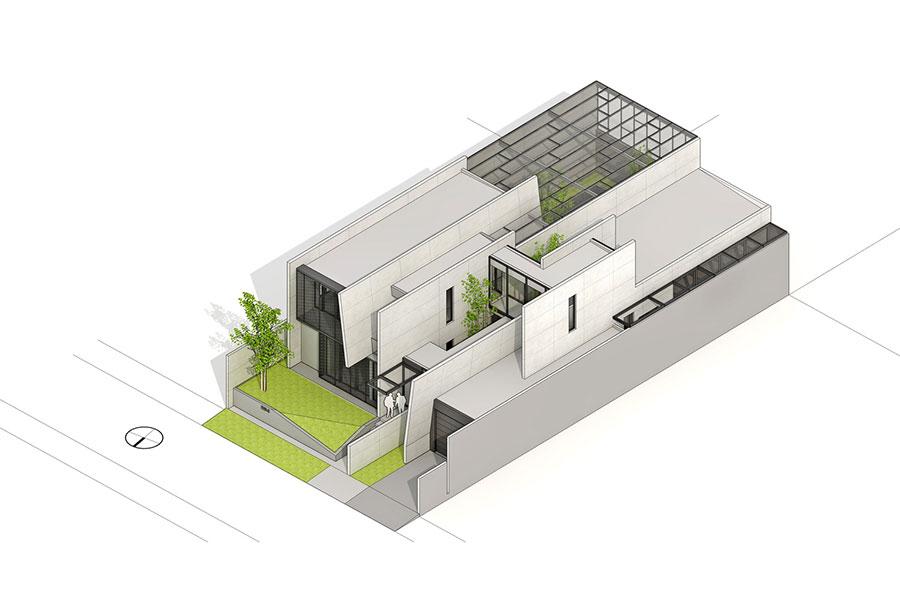 Thiết kế biệt thự 2 tầng phong cách hiện đại ở vùng nhiệt đới