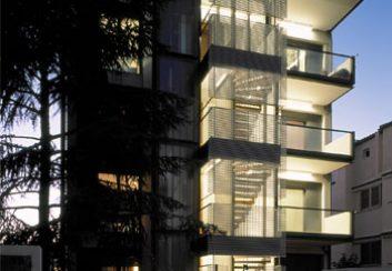 Thiết kế nhà phố bổ sung 2 tầng trong tòa nhà ở Papagou