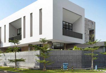 Thiết kế biệt thự 2 mặt tiền phong cách hiện đại ở Jakarta