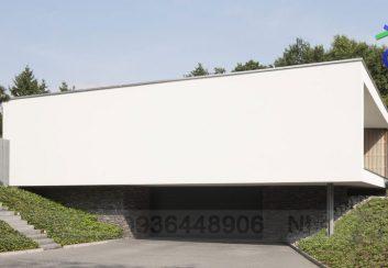 Thiết kế biệt thự 2 tầng hình chiếc hộp ở Hà Lan