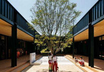 Thiết kế cải tạo trường mầm non 2 tầng thân thiện với môi trường