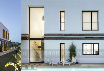 Thiết kế nhà nghỉ 3 tầng trên đất hình tam giác