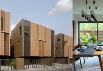 Thiết kế nhà phố song lập 3 tầng trên diện tích  1500m2